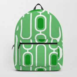 Green Apple - Retro 50s Geometric Pattern Backpack