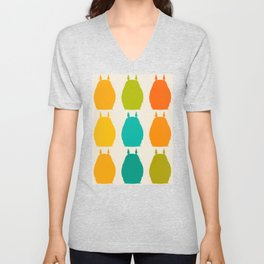 my neighbor pattern Unisex V-Neck