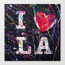 I Love L.A. Canvas Print