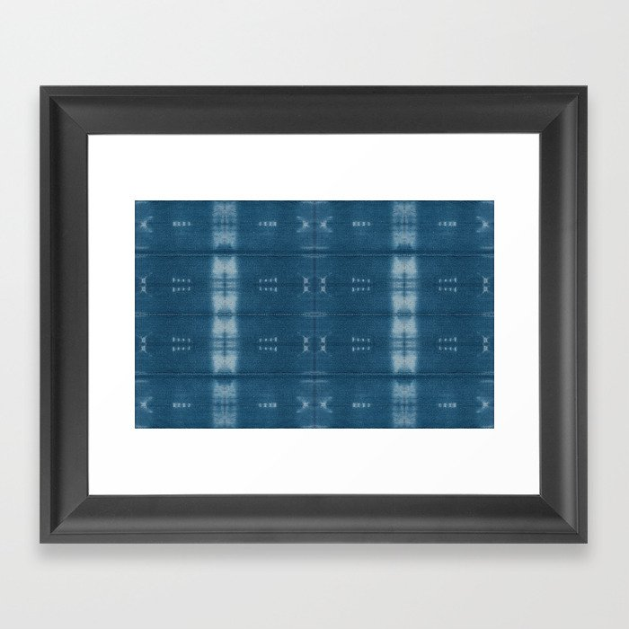 Adire mud cloth Framed Art Print by pricedesigns | Society6