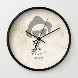 Famous Last words: John Belushi Wall Clock
