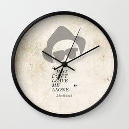 Famous Last words: John Belushi Wall Clock