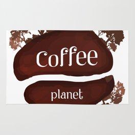 Welcome to the Coffee planet - I love Coffee Rug