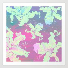 dream with lilies Art Print