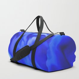 Light blue and silver waves Duffle Bag
