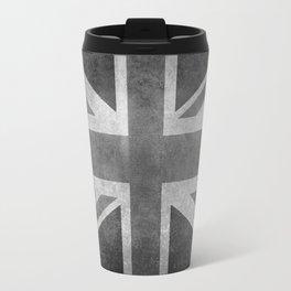 UK flag, High Quality Greyscale Retro Travel Mug