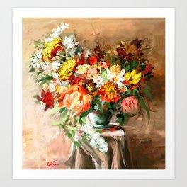 Sunny bouquet Art Print