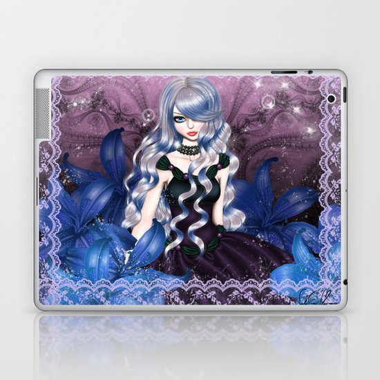 Blue Valentina Laptop & iPad Skin
