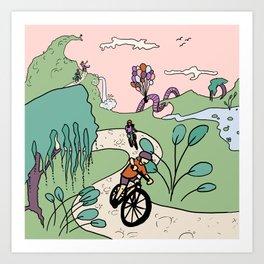 Seuss-cycling Art Print