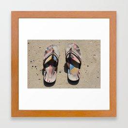 Gone for a swim. Framed Art Print