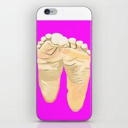 FEET I (Purple) iPhone Skin