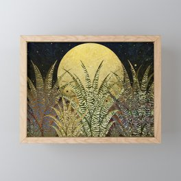 """Golden aloe Zebra midnight sun"" Framed Mini Art Print"