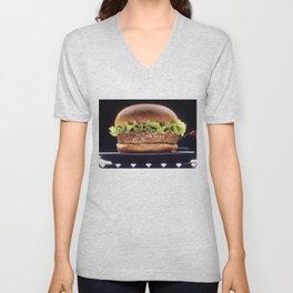 Juicy Hamburger Unisex V-Neck