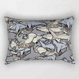 Save ALL Sharks! Rectangular Pillow