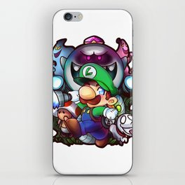 Luigi's Mansion Badge iPhone Skin