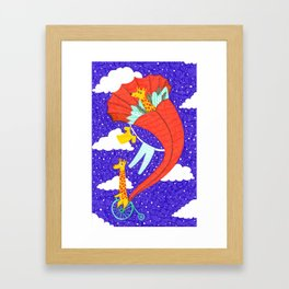 Flying Giraffe Framed Art Print
