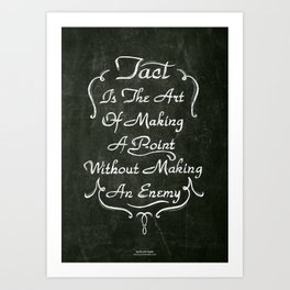 Lettering 001 Art Print