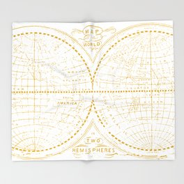 A Golden World Throw Blanket