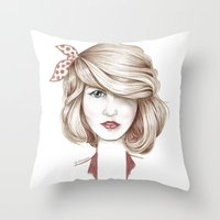 dorothy Throw Pillows featuring Dorothy by yulianzone