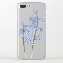 Bluebell Watercolour Clear iPhone Case