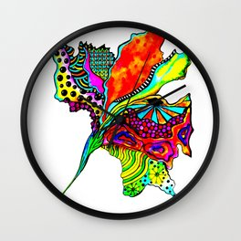 Abstract Flower Wall Clock