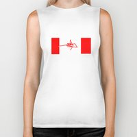 canada Biker Tanks featuring Canada by StazKnak