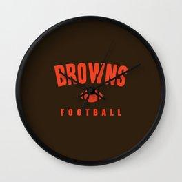 Browns Football Wall Clock
