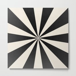 black starburst Metal Print