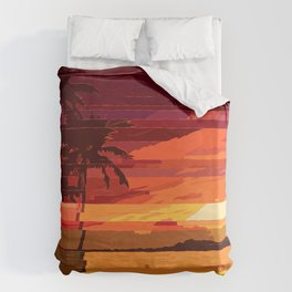 Tropical Glitchset Duvet Cover