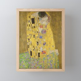 The Kiss by Gustav Klimt Framed Mini Art Print