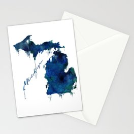 Michigan - wet paint Stationery Cards
