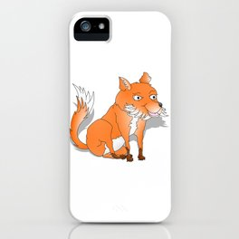 Happy Cartoon Fox iPhone Case