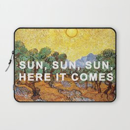 Here Comes the Yellow Sky and Sun Laptop Sleeve
