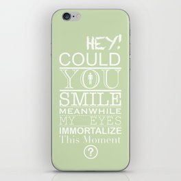Could you smile? iPhone Skin