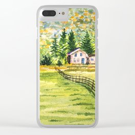 Village in the Autumn Hill Clear iPhone Case