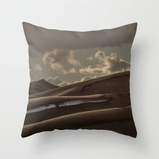 Travel - Nature - Landscape - Small People. Big Sand. Don't Trip! Throw Pillow