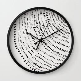 Tree Rings No. 1 Line Art Wall Clock