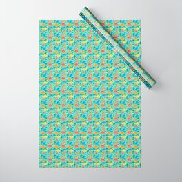 Dinos Green Wrapping Paper