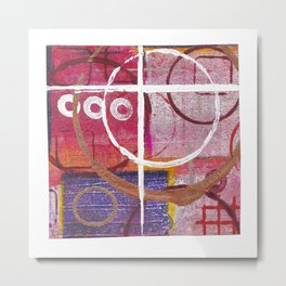 Lines, Circles And Squares, OH MY! 2 Top Square Metal Print