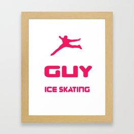 Lovely Gift Ice Skating Tshirt Design Cares about sakating Framed Art Print