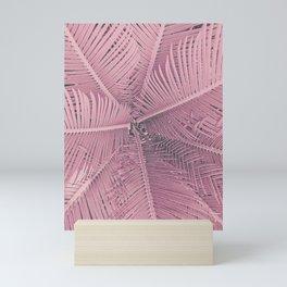 Pink Palm Leaves Urban Jungle Mini Art Print