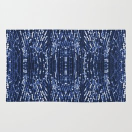 197 - Blue Sequins abstract design Rug