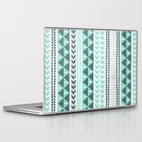 stripe Laptop & iPad Skins featuring Winter Stripe by Alice Rebecca Potter