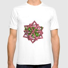 color me m.c. cubed! MEDIUM White Mens Fitted Tee