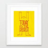 motivation Framed Art Prints featuring Motivation by Joe McNeice