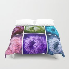 Closing Queen Anne's Lace Collage (Horizontal) Duvet Cover