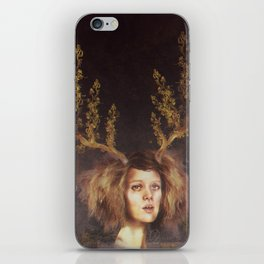 The Golden Antlers iPhone Skin