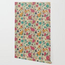 """""""Retro Confetti Polka Dots"""" Wallpaper"""