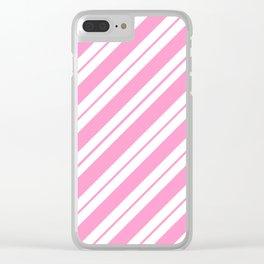 Rose Quartz Peppermint Clear iPhone Case
