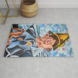 Not Clowning But Frowning Rug